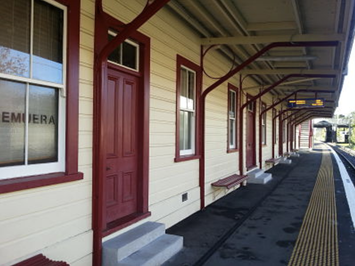 Exterior of Remuera Railway Station 2014.