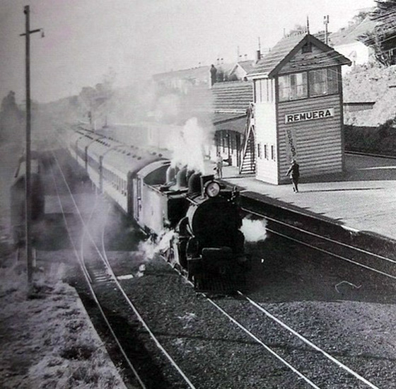 Remuera Railway Station 1955. From The Railways of New Zealand a journey through history / Geoffrey B. Churchman & Tony Hurst.