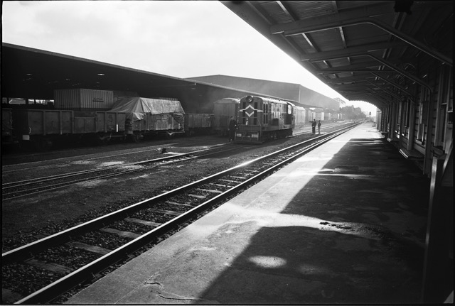 Remuera Railway Station Sidings 17 July 1974. P. Brennan, Auckland City Council.